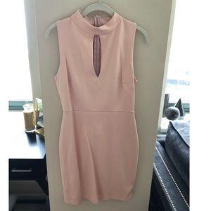Blush Key-Hole Dress
